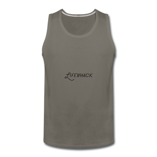Black Lifewhack Logo Products - Men's Premium Tank
