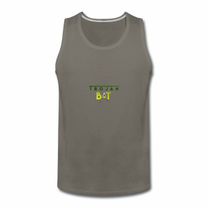 New Trojan Bat Logo - Men's Premium Tank