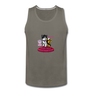 Allie, First at Last - Secret Cat with Trophy - Men's Premium Tank