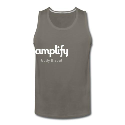 amplify logo // white - Men's Premium Tank