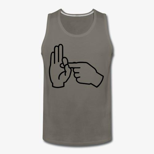 Sex Hand Gesture - Men's Premium Tank