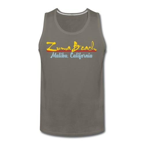 Zuma Beach - Malibu, California - Men's Premium Tank