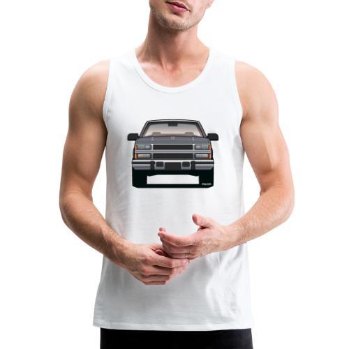 Design Icon: American Bowtie Silver Urban Truck - Men's Premium Tank