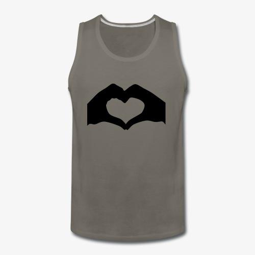 Silhouette Heart Hands | Mousepad - Men's Premium Tank