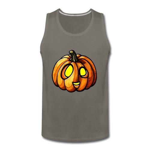 Pumpkin Halloween watercolor scribblesirii - Men's Premium Tank