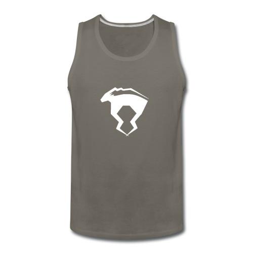 WHITE logo - Men's Premium Tank