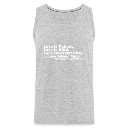 Love Bible Verse - Men's Premium Tank