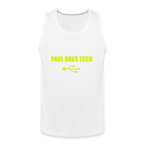 Paul Does Tech Yellow Logo With USB (MERCH) - Men's Premium Tank