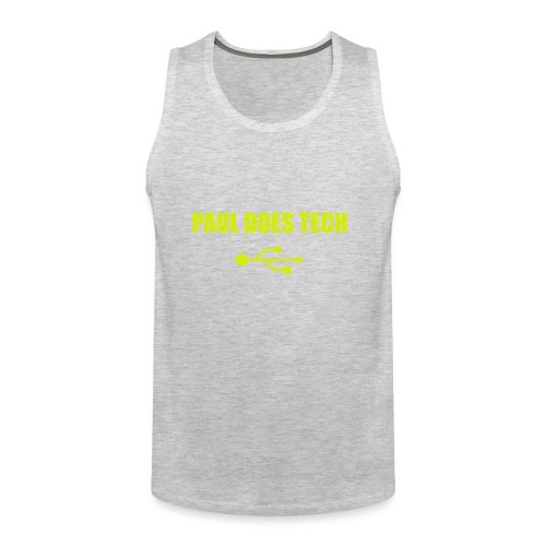 Paul Does Tech Yellow Logo With USB (MERCH) - Men's Premium Tank