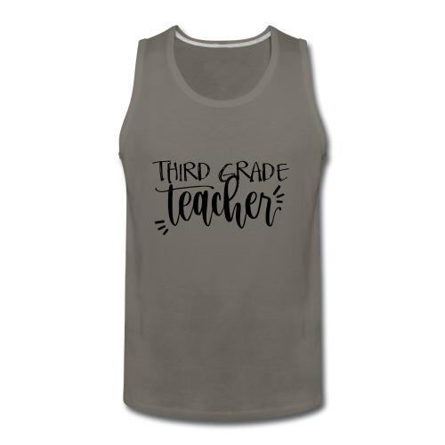 Third Grade Teacher T-Shirts - Men's Premium Tank