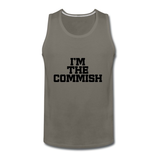I'm The Commish (Turquoise & Metallic Gold) - Men's Premium Tank