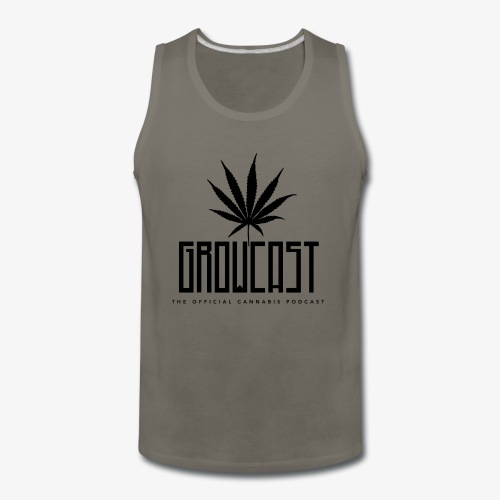 Growcast in the classic black - Men's Premium Tank