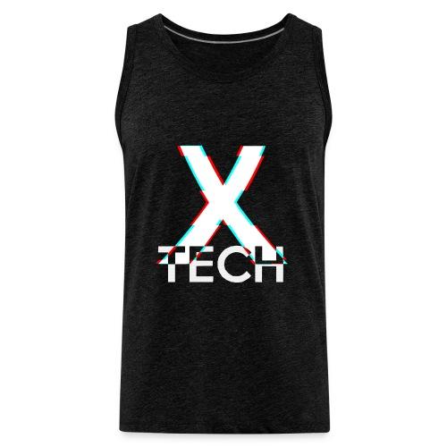 X-Tech Logo - White - Men's Premium Tank