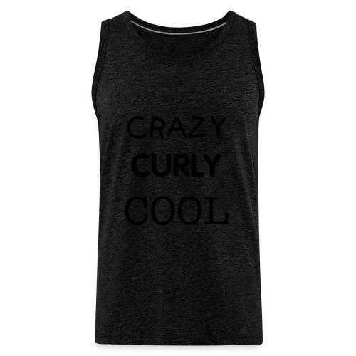 Crazy Curly Cool - Men's Premium Tank