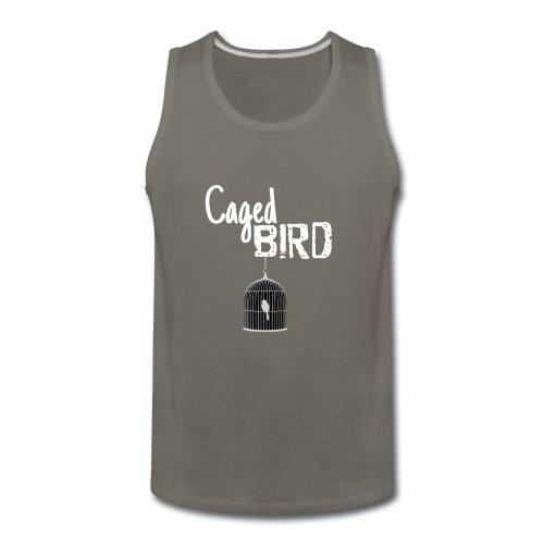 Caged Bird Abstract Design - Men's Premium Tank