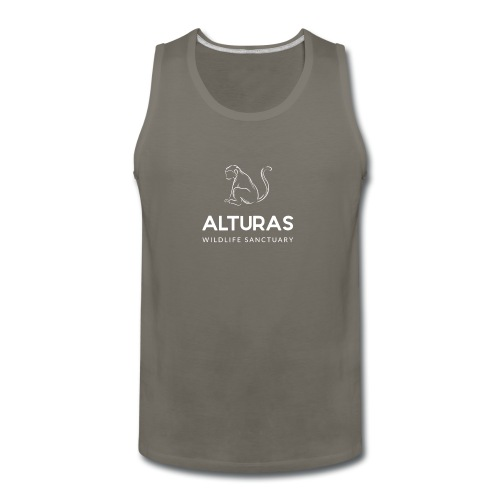 Alturas Wildlife Sanctuary with Monkey Logo - Men's Premium Tank