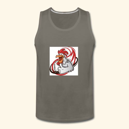 cartoon chicken with a thumbs up 1514989 - Men's Premium Tank