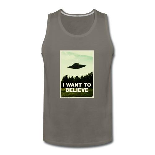 i want to believe (t-shirt) - Men's Premium Tank