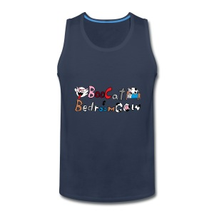 Boo Cat And Bedroom Cow - Men's Premium Tank