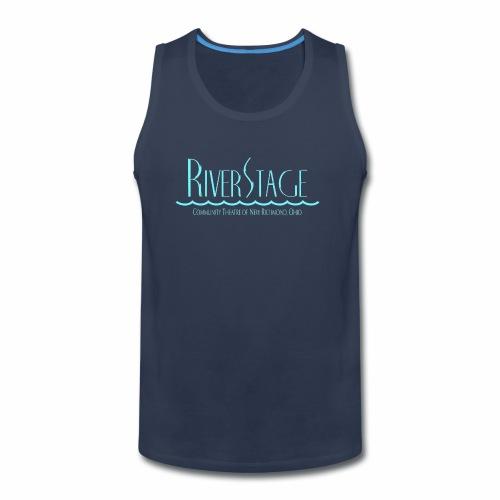 RiverStage Color Logo in Ice Blue - Men's Premium Tank