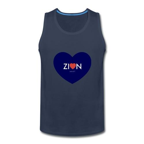 Zion in my heart/ I Won't Keep Silent - Men's Premium Tank