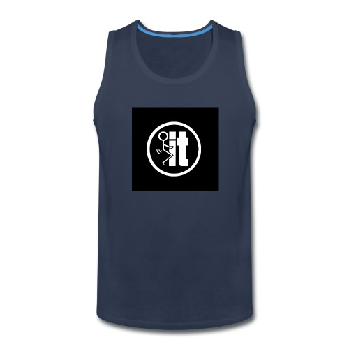 fuck it round tshirt - Men's Premium Tank