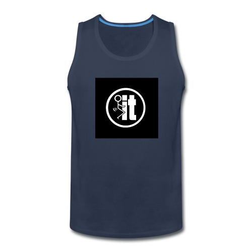 fuck it round tshirt - Men's Premium Tank