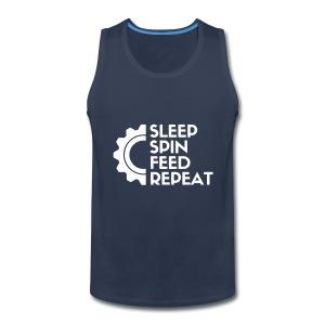 SLEEP SPIN FEED REPEAT One - Men's Premium Tank