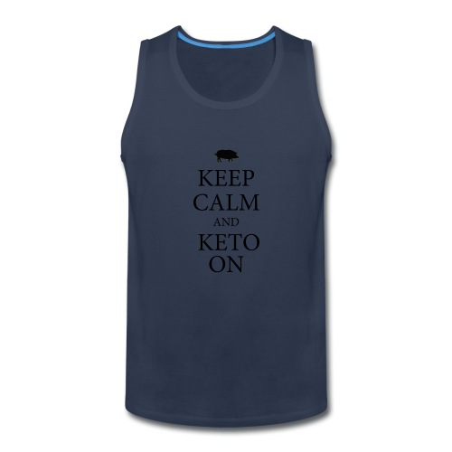 Keto keep calm2 - Men's Premium Tank