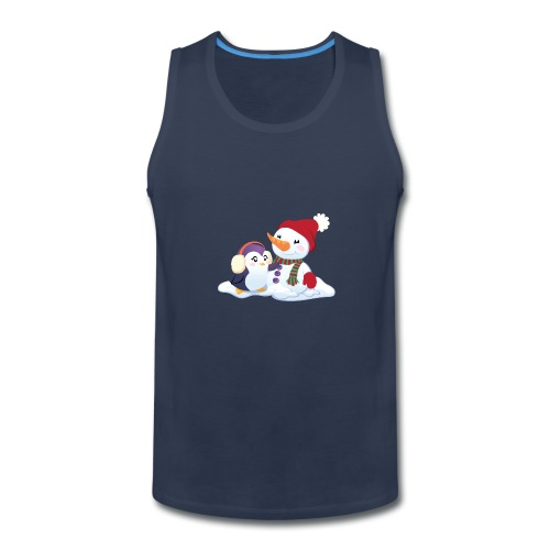 Penguin & Snowman Winter Friends - Men's Premium Tank