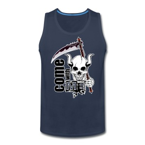 Come with me - Funny Skull with Scythe - Men's Premium Tank