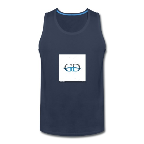 stock vector gd initial company blue swoosh logo 3 - Men's Premium Tank