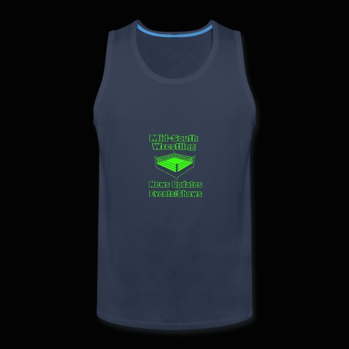 Mid-South Wrestling News Neon/Lime Green - Men's Premium Tank