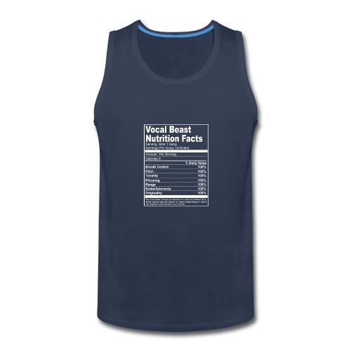 Vocal Nutrition White on Blk Streetwear - Men's Premium Tank