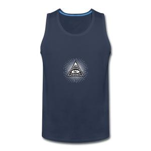 illuminati All Seeing Eye Food Humor Fun pyramid - Men's Premium Tank