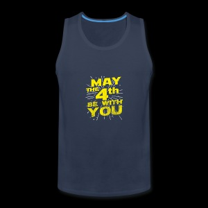 May The 4th Be With You Distressed - Men's Premium Tank