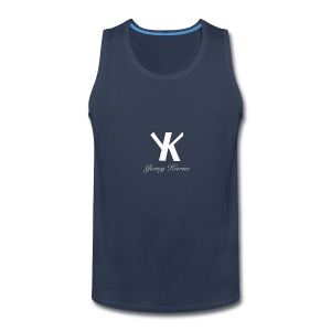 Young Kevino Official Logo (White) - Men's Premium Tank