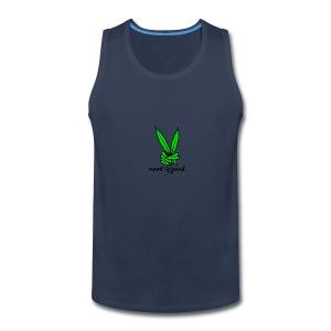 Marijuana Leaf Peace - Men's Premium Tank