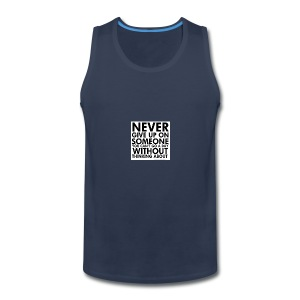 76536 Never give up on love quotes - Men's Premium Tank