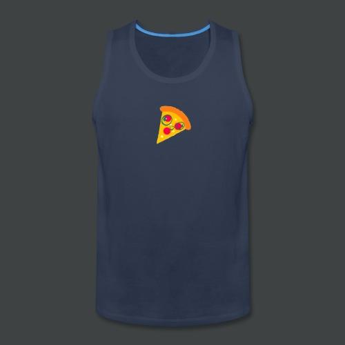 Cartoony Pizza Logo - Men's Premium Tank