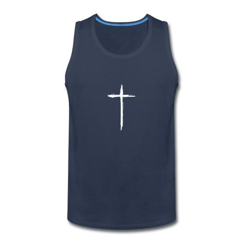 White Cross for Back of Shirt - Men's Premium Tank