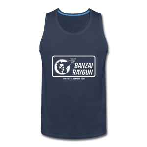 Banzai Raygun Rectangle Logo - Men's Premium Tank