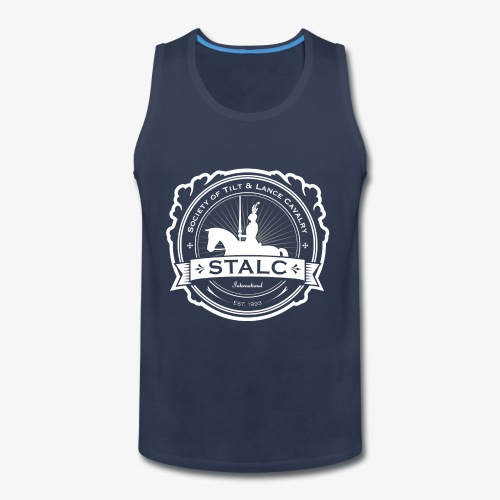 STALC Logo White only - Men's Premium Tank