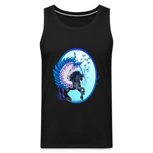 Blue Winged Pegasus Oval - Men's Premium Tank