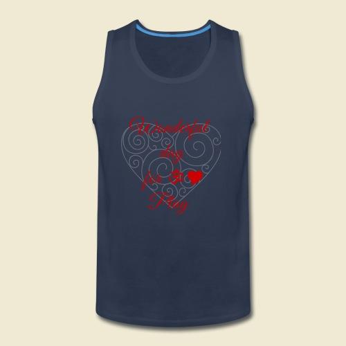108-lSa Inspi-Shirt-85.b ... for OM-Love Play - Men's Premium Tank