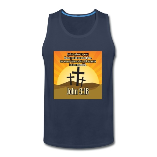 John 3:16 - the most widely quoted Bible verses? - Men's Premium Tank