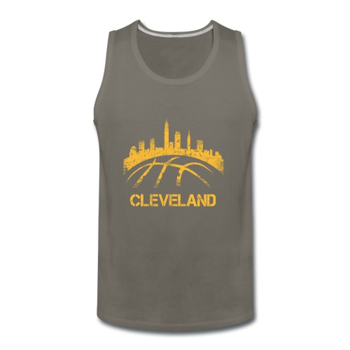 Cleveland Basketball Skyline - Men's Premium Tank