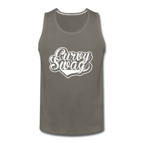 Curvy Swag Reversed Out Design - Men's Premium Tank