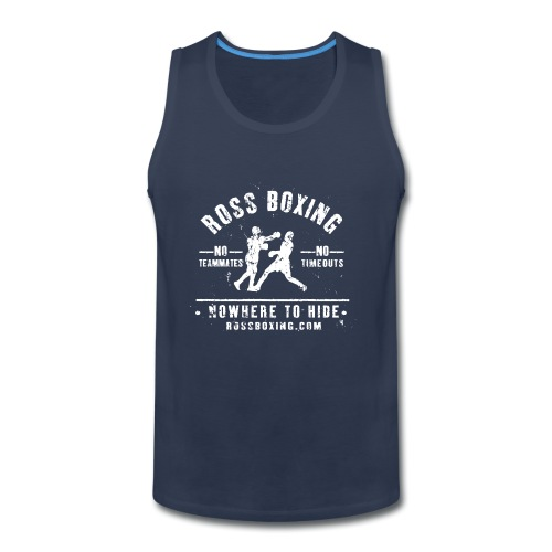 rossboxing_white - Men's Premium Tank