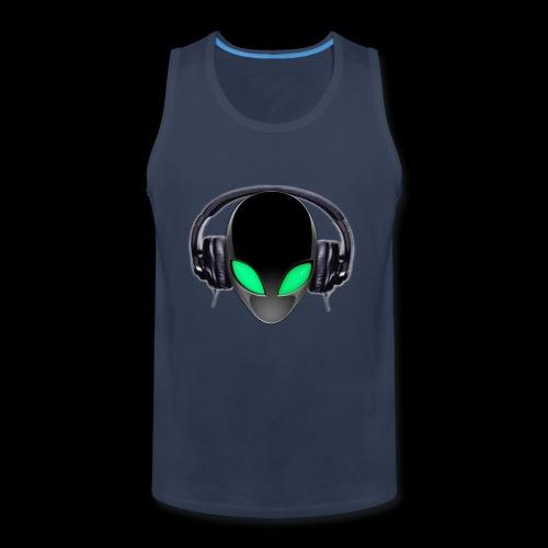 Alien Music Lover DJ (Simplified Fit All Design) - Men's Premium Tank